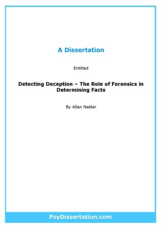 Forensic Psychology Dissertation Example