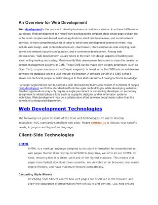 Website Development & Mobile App development company