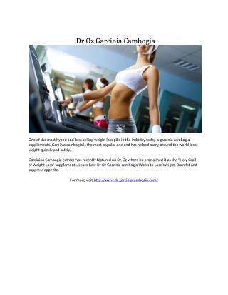 Dr Oz Garcinia Cambogia
