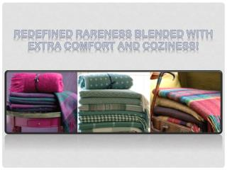 Exclusive Range of Woolen Throw and Blankets Available Online