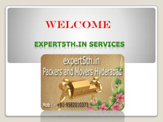 Fast & Secure Domestic Relocation Servcre in Hydrabad at Expert5th.in