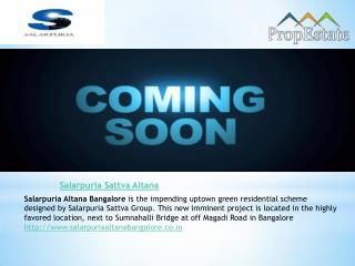 Salarpuria Sattva Altana Prelaunch Apartments