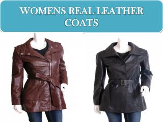 WOMENS REAL LEATHER COATS