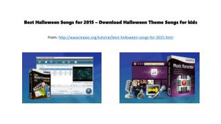 Best halloween songs for 2015 � download halloween theme songs for kids