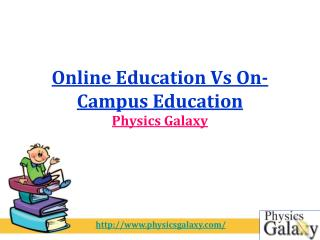 Online Education Vs On-Campus Education