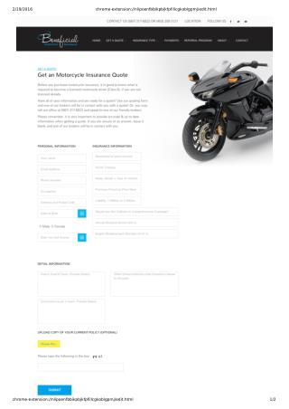 Get Motorcycle Insurance Quote in Calgary