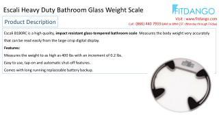 Escali Heavy Duty Bathroom Glass Weight Scale