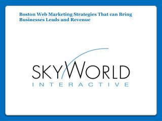 Boston Web Marketing Strategies