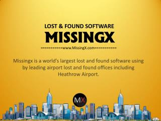 Online Lost and Found Software