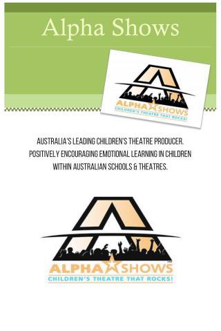 Australias Leading Childrens Theatre Producer  Alpha Show