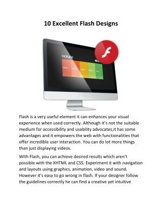 10 Excellent Flash Designs | Web Development Toronto