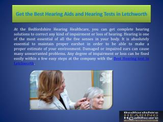 Get the Best Hearing Aids and Hearing Tests in Letchworth