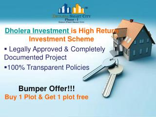 Dholera Investment Gives High Returns in Few Times