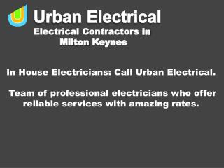 In House Electricians: Call Urban Electrical