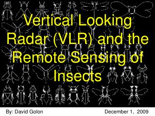 Vertical Looking Radar VLR and the Remote Sensing of Insects