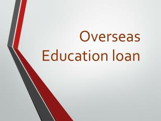 Overseas Education Loan