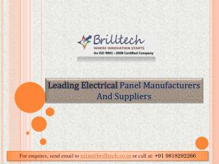 Electrical Panel Manufacturers