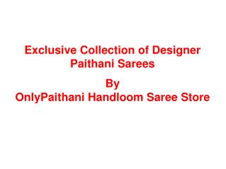 Wedding paithani sarees collection