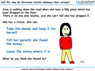 Unit 5d: How do Christians  beliefs influence their actions