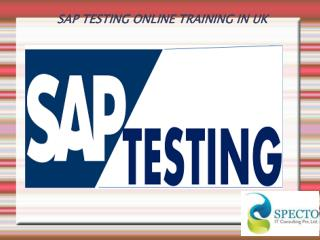 SAP TESTING ONLINE TRAINING