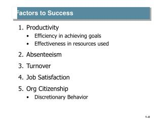 Factors to Success