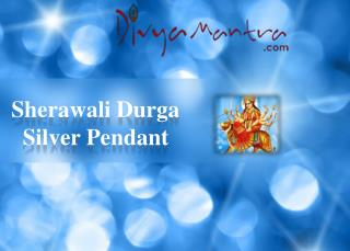 Sherawali Durga Silver Pendant|Divyamantra Spiritual Jewellery