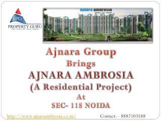 Ajnara Ambrosia sector 118 Noida