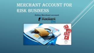 Welcome High Risk Business.