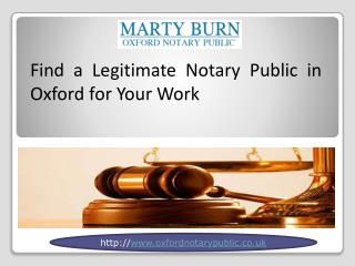 Find a Legitimate Notary Public in Oxford for Your Work