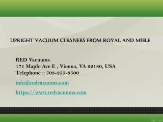 Upright Vacuum Cleaners From Royal And Miele