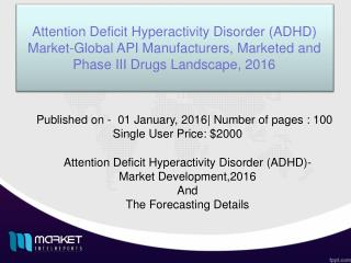 Current and Future Trends of Attention Deficit Hyperactivity Disorder (ADHD) Market