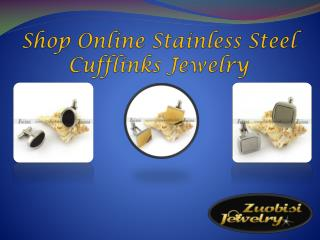 Shop Online Stainless Steel Cufflinks Jewelry
