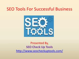 SEO Tools For Successful Business