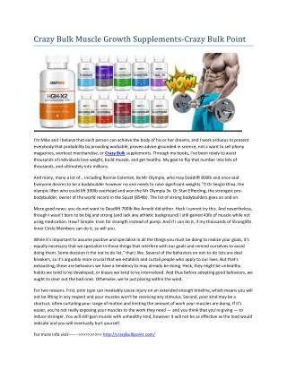Crazy Bulk Muscle Growth Supplements For Men