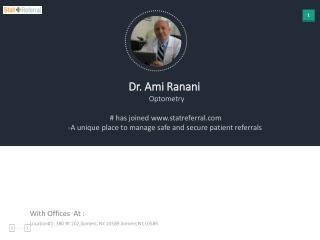 Dr Ami Ranani, Optometry joined www.statreferral.com