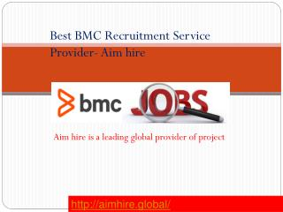Best BMC Recruitment Service provider- Aimhire