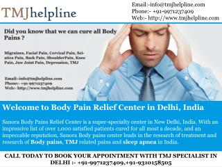 Body Pains Treatment In india, Tmj Treatment In India, TMJ, TMJD