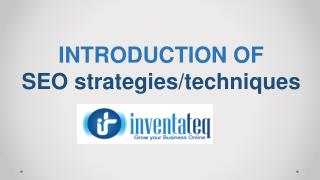 SEO strategies & techniques at Inventateq