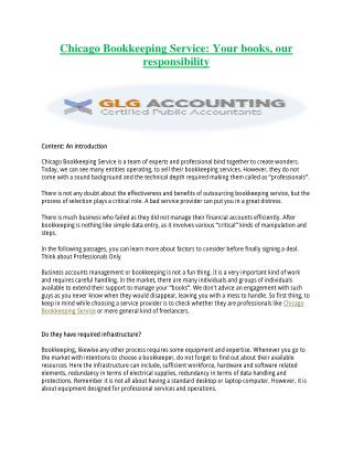 GLG Accounting | Effective Chicago Bookkeeping Service to Save Money