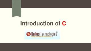 Introduction of C Programming Language