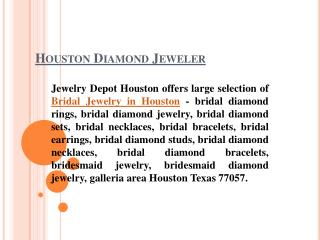 Low Priced Bridal Jewelry In Houston