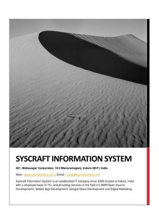 Syscraft - Award Winning Web and Mobile App Development Company