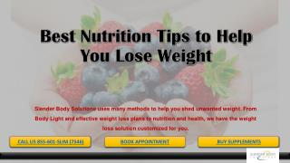 Best Nutrition Tips to Help You Lose Weight