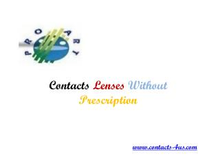 Buy Contacts Without Prescription at Contacts-4us.com