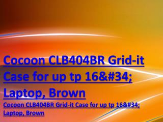 "Cocoon CLB404BR Grid-it Case for up tp 16"" Laptop, Brown"