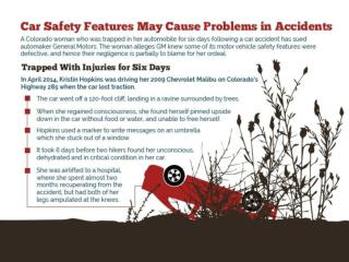 Car safety features may cause problems in accidents