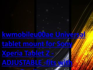 kwmobileu00ae Universal tablet mount for Sony Xperia Tablet Z - ADJUSTABLE -fits with case. Quality.
