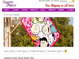 Buy valentines flag online