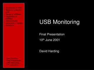 USB Monitoring