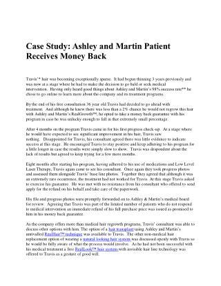 Case Study: Ashley and Martin Patient Receives Money Back
